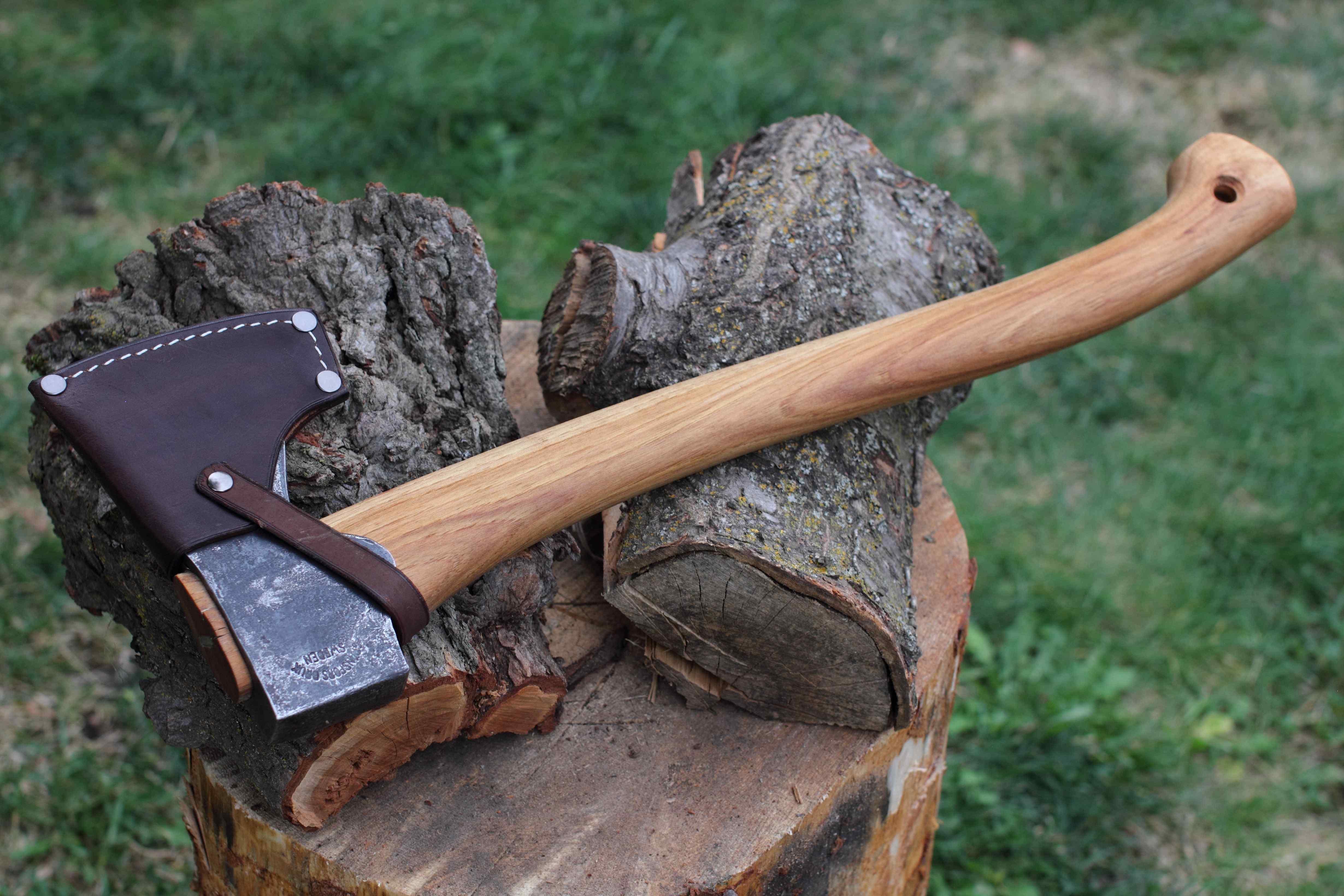 Custom Leather Sheath For Gransfors Bruks Small